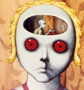 fantastic planet head with mind
