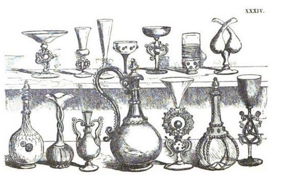 specimens of table glass